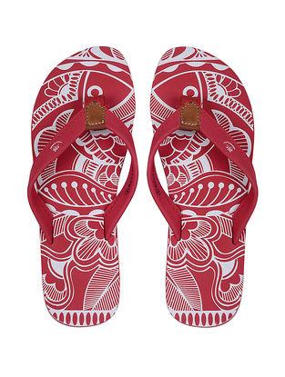Red Printed Flip-Flop