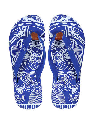 Blue Printed Flip-Flop