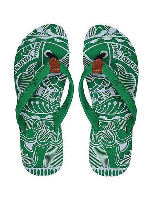 Green Printed Flip-Flop