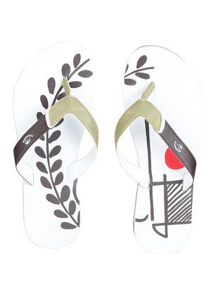 White Pehchaan Printed Flip-Flop