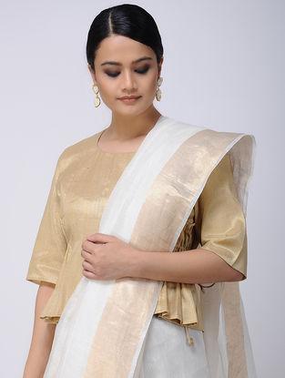 Beige Cotton Tissue Blouse
