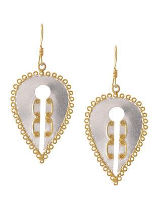 Classic Dual Tone Silver Earrings