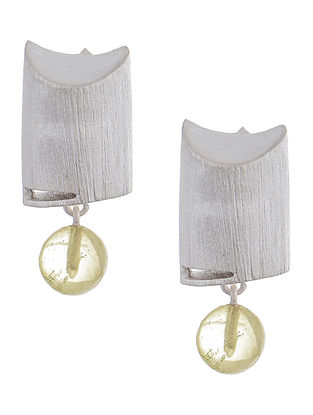 Lemon Quartz Silver Earrings