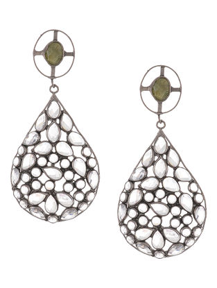 Classic Crystal Cut Silver Earrings