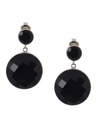 Classic Black-Onyx Silver Earrings