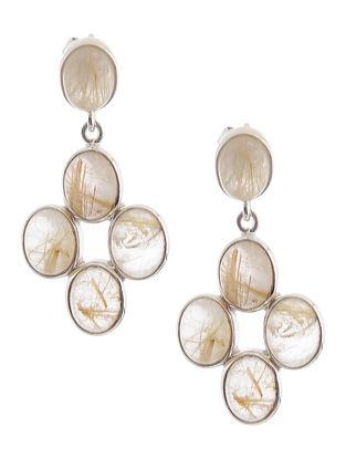 Rutile Quartz Silver Earrings