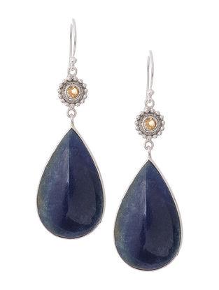 Quartz and Citrine Silver Earrings