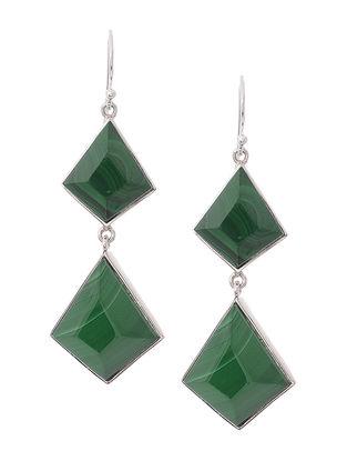 Malachite Silver Earrings