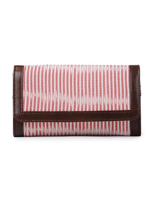 Pink-Ivory Ikat Cotton Wallet