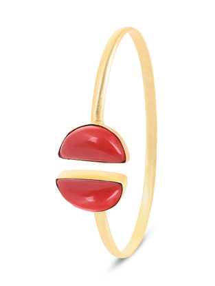 Red Gold-plated Brass Cuff