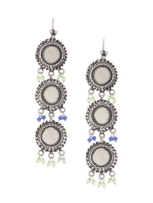 Green-Blue Silver Earrings
