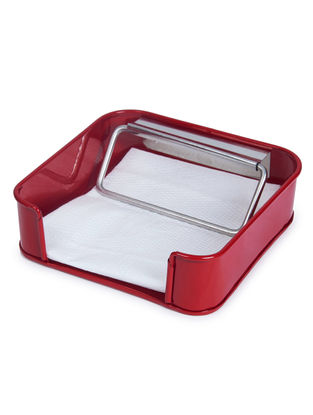 Red Tissue Paper Holder (7.2in x 7.1in x 2.1in)