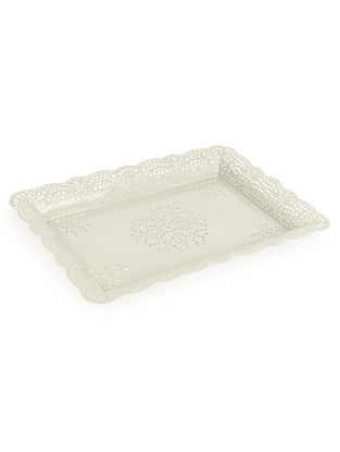 Ivory Arabesque Tray (13.3in x 9.2in)