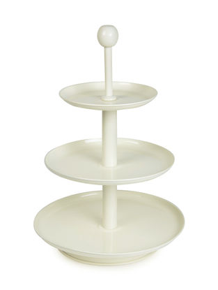 Ivory Three Tier Stand with Knob (11.5in x 18in)