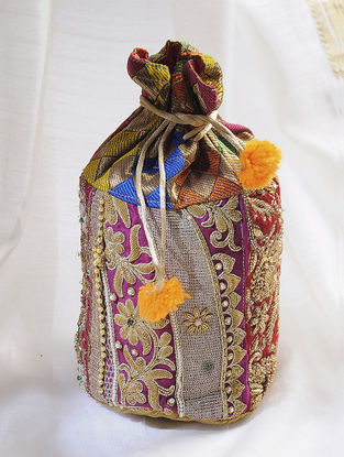 Multicolored Handcrafted Potli with Embellishments