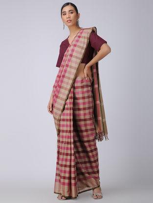 Maroon Handloom Cotton Wrap Blouse
