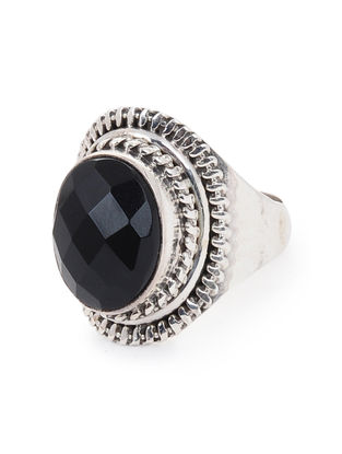 Onyx Silver Ring (Ring Size -11.2)
