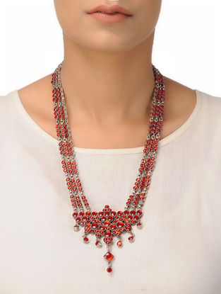 Red Silver Necklace