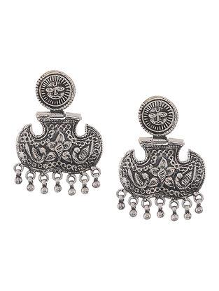 Classic Silver Earrings with Bird Motif