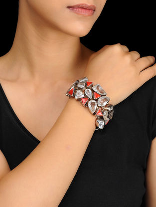 Red Silver Bracelet
