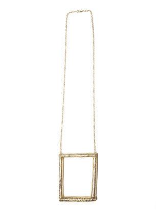 Twig Wood Brass Necklace