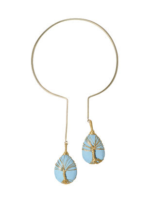 Tree of Life Turquoise and Brass Necklace