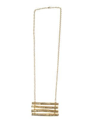 Raft Twig Wood Brass Necklace