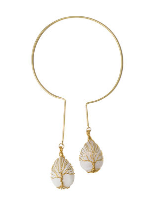 Tree of Life Moonstone and Brass Necklace
