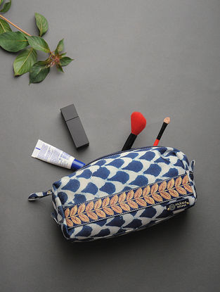 Indigo Handcrafted Printed Cotton Pouch