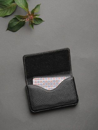 Black Handcrafted Card Holder