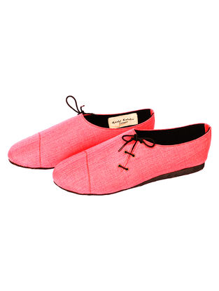 Pink Handcrafted Cotton Shoes