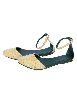 Yellow-Green Handcrafted Woven Cotton Sandals