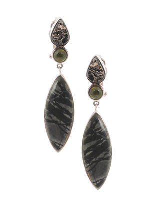 Idiocrasy and Picasso Jasper Silver Earrings