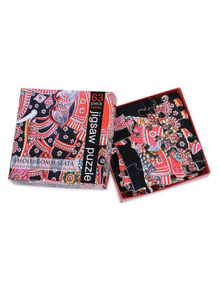 Multicolored Tholu Bommalata Jigsaw Puzzle - 63 Pieces