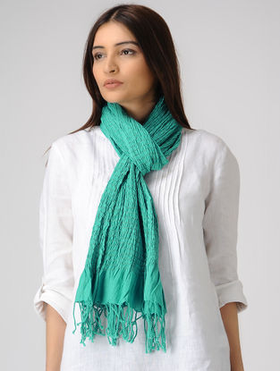 Turquoise Cotton Lycra Stole