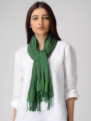 Green Cotton Lycra Stole
