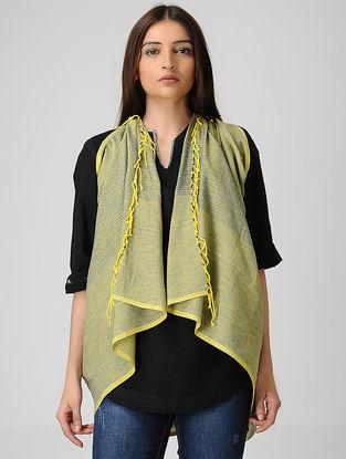 Yellow-Blue Cotton Stole
