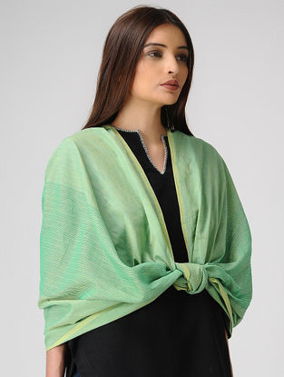 Green Cotton Stole