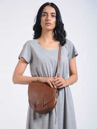 Tan Handcrafted Sling Bag