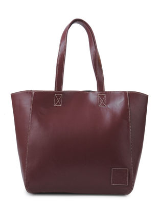 Maroon Structured Tote