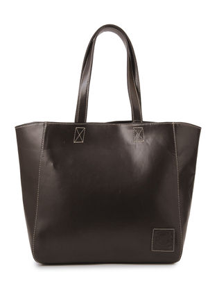Brown Structured Tote
