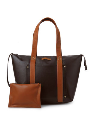 Tan - Brown Tote with Pouch ( Set of 2)