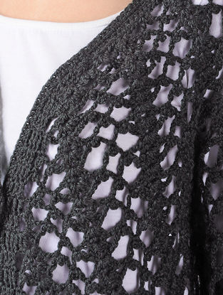Grey Crochet Wool Shrug