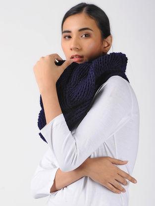 Blue Crochet Wool Cowl