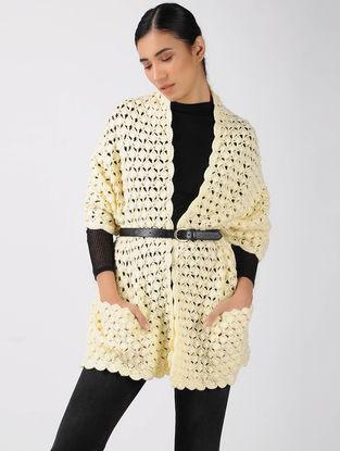 Yellow Crochet Wool Muffler