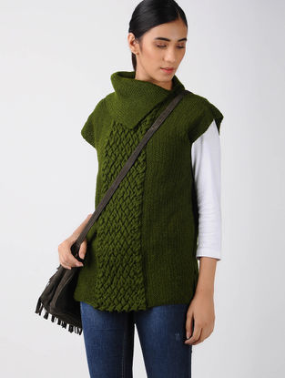 Green Knitted Wool Top