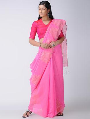 Pink-Beige Silk Saree with Ghicha Palla