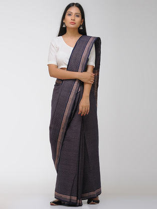 Blue-Beige Chettinad Cotton Saree