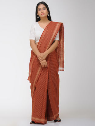 Red Chettinad Cotton Saree