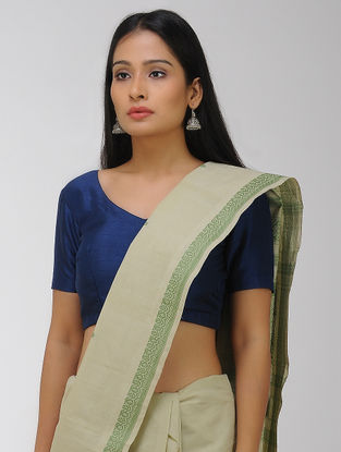 Green Chettinad Cotton Saree with Woven Border